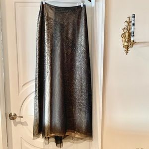 Exquisite Vintage-Style Beaded BCBG Maxi-Skirt.